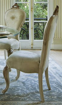 Aico Furniture Michael Amini Platine De Royale Champagne / Antique Platinum Dining Side Chair AICN09003201