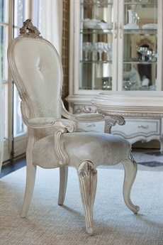 Aico Furniture Michael Amini Platine De Royale Champagne / Antique Platinum Dining Arm Chair AICN09004201