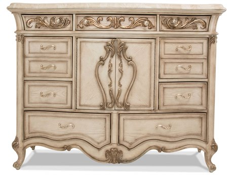 Aico Furniture Michael Amini Platine De Royale Champagne / Antique Platinum Eight-Drawer Double Dresser AIC09051201