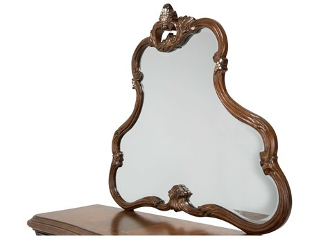 Aico Furniture Michael Amini Platine De Royale Light Espresso 52''W x 45''H Dresser Mirror AIC09060229