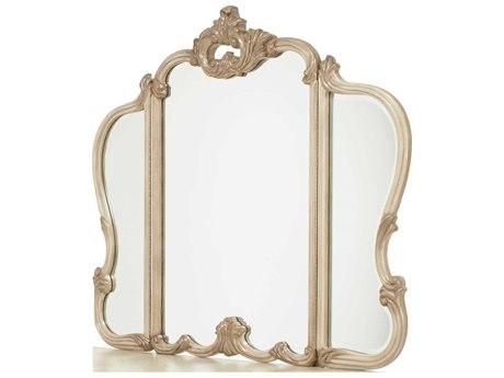 Aico Furniture Michael Amini Platine De Royale Champagne / Antique Platinum 52''W x 46''H Dresser Mirror AIC09068201