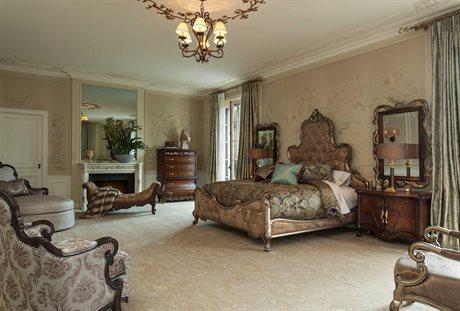 AICO Furniture Platine De Royale Bedroom Set AIC09000LCKPL3BF101SET