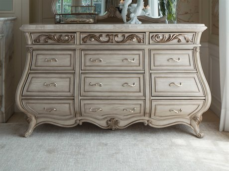 Aico Furniture Michael Amini Platine De Royale Champagne / Antique Platinum Nine-Drawer Triple Dresser AIC09050R201