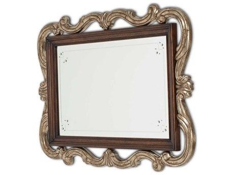 Aico Furniture Michael Amini Platine De Royale Light Espresso / Antique Platinum  51''W x 35''H Wall Mirror AIC09260229