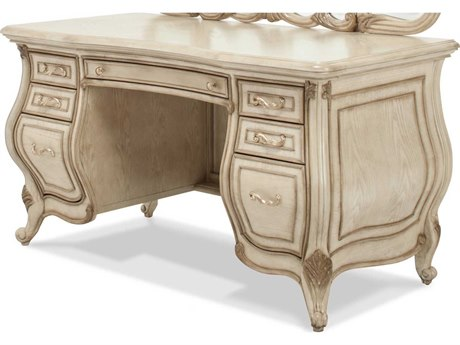 Aico Furniture Michael Amini Platine De Royale Champagne / Antique Platinum Vanity Desk AIC09058201