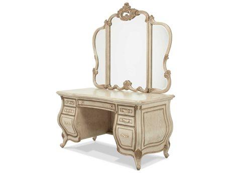 AICO Furniture Platine De Royale Champagne / Antique Platinum Vanity Set AIC09058201SET