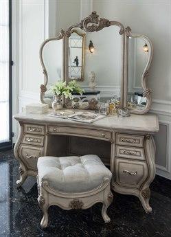 AICO Furniture Platine De Royale Champagne / Antique Platinum Vanity Set AIC09058201SET2