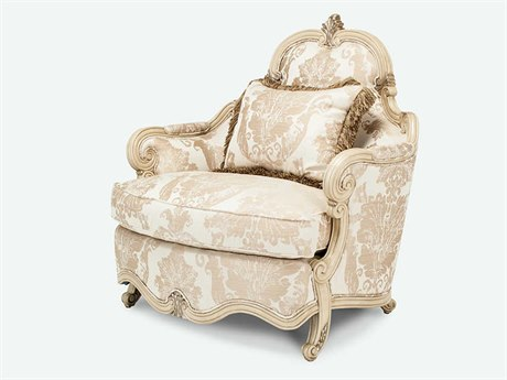 Aico Furniture Michael Amini Platine De Royale Champagne / Antique Platinum Chair and A Half AIC09838CHPGN201