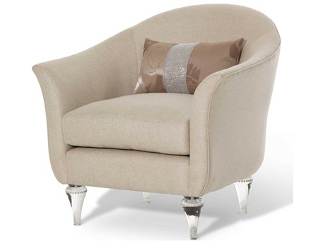 Aico Furniture Michael Amini Rodeo Platinum Accent Chair AICSTRODEO35PLT002