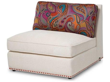 Aico Furniture Michael Amini Sacramento Cream / Paisley Armless Modular Chair AICSTSCRMT31CPSOR