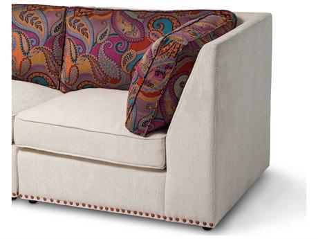 Aico Furniture Michael Amini Sacramento Cream / Paisley Corner Modular Chair AICSTSCRMT84CPSOR