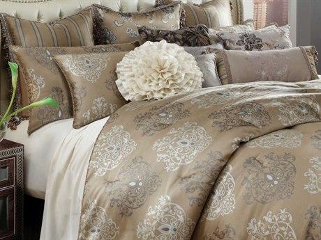 AICO Furniture Solitaire Comforters AICBCSQS12SOLITRPEW