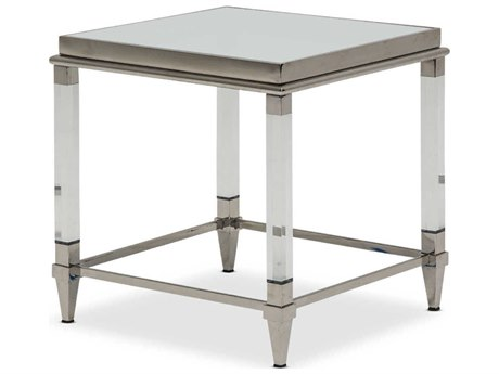 AICO Furniture State St 23'' Wide Square End Table