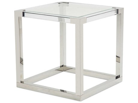 AICO Furniture State St 26'' Wide Square End Table