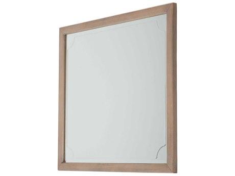 Aico Furniture Michael Amini Tangier Coast Desert Sand 46''W x 40''H Rectangular Dresser Mirror