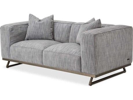AICO Furniture Tempo Graphite / Black Nickel Sofa Couch