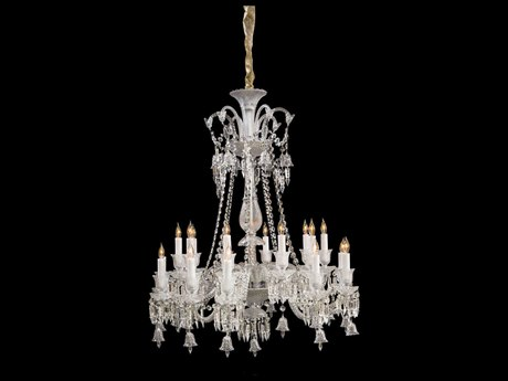Aico Furniture Michael Amini Treviso Chrome / Clear 20-Light 36'' Wide Chandelier AICLTCH90920CLR