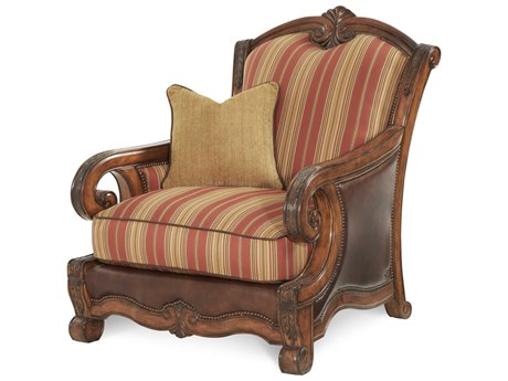Aico Furniture Michael Amini Tuscano Brick Accent Chair AIC34934BRICK26