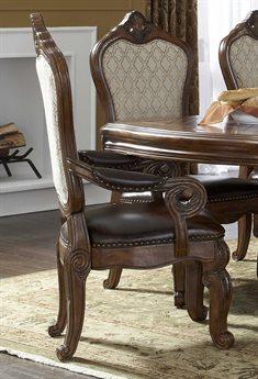 Aico Furniture Michael Amini Tuscano Melange Dining Arm Chair AIC3400434
