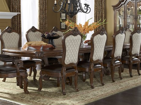 Aico Furniture Michael Amini Tuscano Melange 82-148''W x 46''D Rectangular Dining Table with Extension AIC3400234