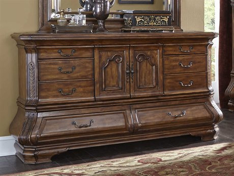 Aico Furniture Michael Amini Tuscano Melange Eight-Drawer Double Dresser