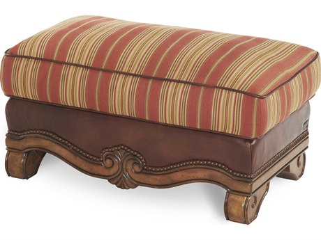 Aico Furniture Michael Amini Tuscano Brick Ottoman AIC34977BRICK26