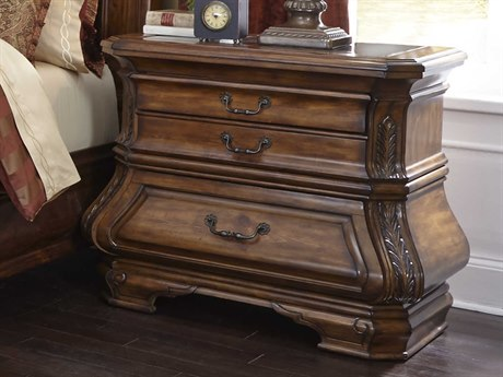 Aico Furniture Michael Amini Tuscano Melange Three-Drawer Nightstand AIC3404034