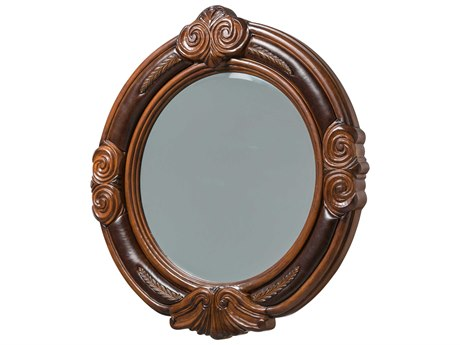 Aico Furniture Michael Amini Tuscano Melange 45''W x 47''H Oval Wall Mirror AIC3406734