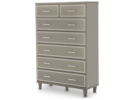 Aico Furniture Michael Amini Urban Place Dove Grey Seven-Drawer Chest of Drawer AIC9027670803
