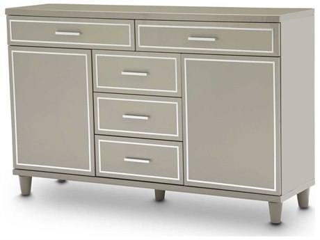 Aico Furniture Michael Amini Urban Place Dove Grey Five-Drawer Double Dresser AIC9027650803