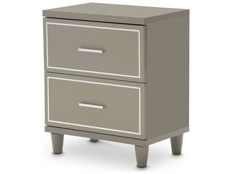 Aico Furniture Michael Amini Urban Place Dove Grey Two-Drawer Nightstand AIC9027640803