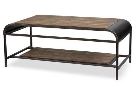 Aico Furniture Michael Amini Vail Acacia Wood / Metal 48''W x 26''D Rectangular Coffee Table AICFSVAIL201