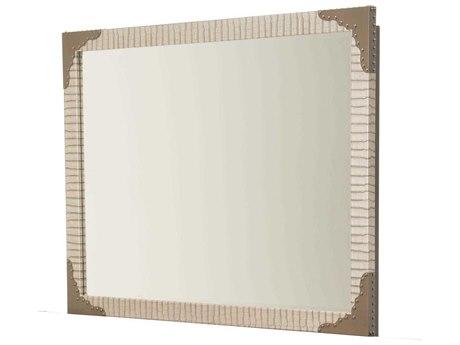 Aico Furniture Michael Amini Valise Amazon Tan Gator Vinyl 49''W x 37''H Rectangular Wall Mirror AIC9026660110