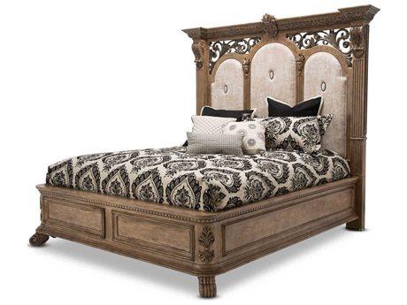 Aico Furniture Michael Amini Villa Di Como Heritage Eastern King Size Platform Bed AIC9053000EK207
