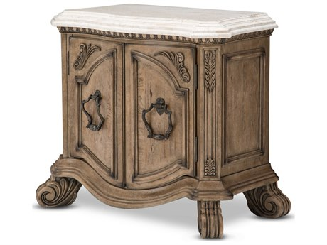 Aico Furniture Michael Amini Villa Di Como Marble / Heritage One-Drawer Nightstand AIC9053040207