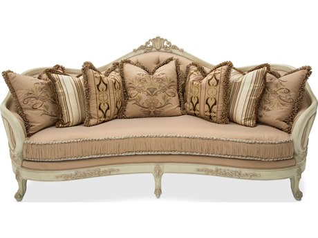 Aico Furniture Michael Amini Villa Di Como Cream / Moonlight Sofa AIC9053815CREAM115