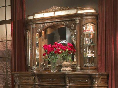 Aico Furniture Michael Amini Villa Valencia Classic Chestnut 61''W x 44''H Dresser Mirror AIC7206055