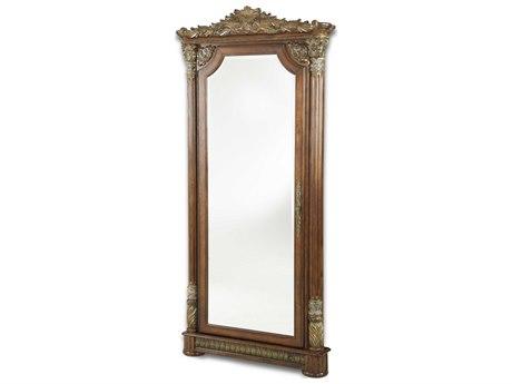 Aico Furniture Michael Amini Villa Valencia Classic Chestnut 43''W x 90''H Floor Mirror AIC7206255