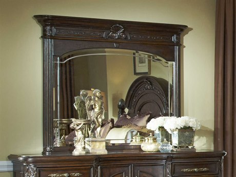 Aico Furniture Michael Amini Villagio Hazelnut 53''W x 46''H Rectangular Dresser Mirror AIC5806144
