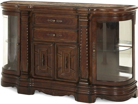 Aico Furniture Michael Amini Windsor Court Vintage Fruitwood Sideboard AIC7000754