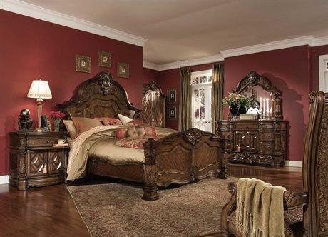 AICO Furniture Windsor Court Bedroom Set AIC70000QNMB54SET