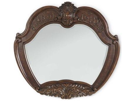 Aico Furniture Michael Amini Windsor Court Vintage Fruitwood 51''W x 47''H Wall Mirror AIC7006754