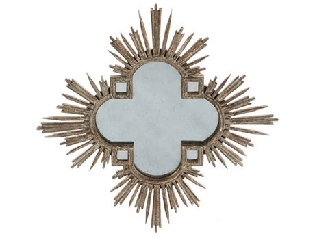 Aidan Gray Abellona Cross Natural 36'' Wide Sunburst Wall Mirror AIDDM104