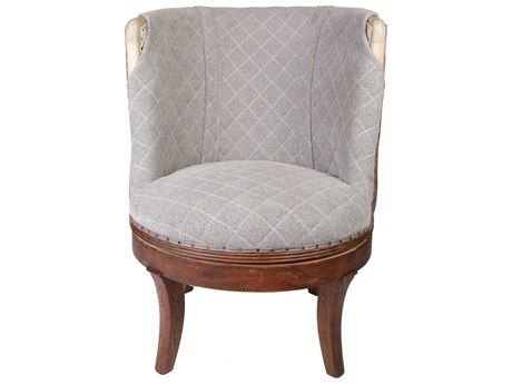 Aidan Gray Distressed Rustic Wood Accent Chair AIDDIVA100