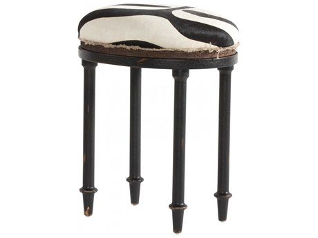 Aidan Gray Distressed Black Accent Stool AIDDIVA170