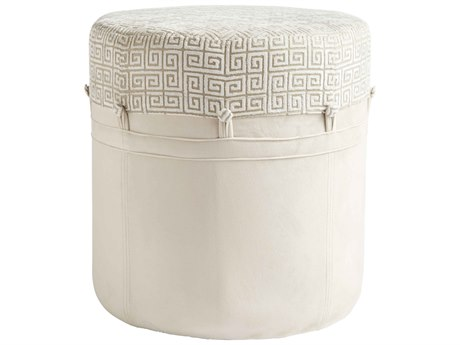 Aidan Gray Adam Greek Key Cream Stool AIDCH150CG