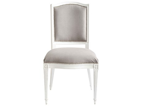 Aidan Gray Arch Back Touched Velvet / Waxed White Dining Side Chair (Sold in 2) AIDCH456WWTO