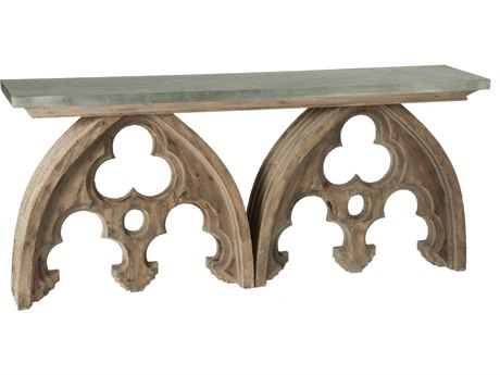 Aidan Gray Arched Cathedral Tin Top 72''W x 16''D Rectangular Console Table AIDF162