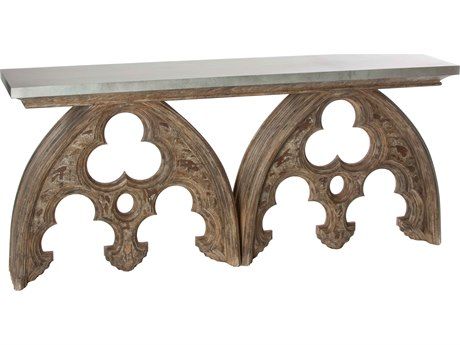 Aidan Gray Arched Cathedral Tin Top 72''W x 16''D Rectangular Console Table AIDF8