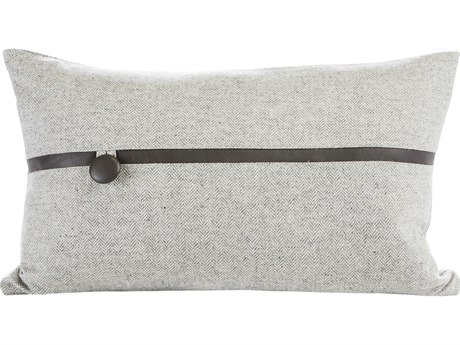 Aidan Gray Argent No-15 Gray / Black 20'' x 12''H Rectangular Pillow AIDPL12ARGNO15